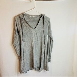 Athleta Gray hooded top